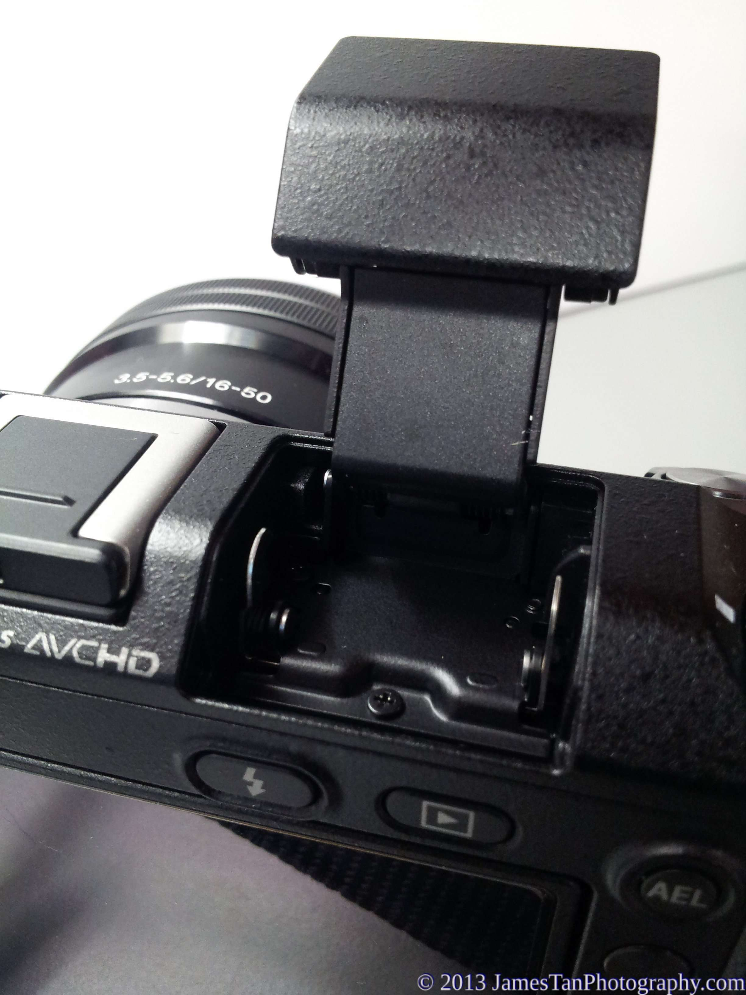 Sony Alpha NEX-6 Built-in flash back view