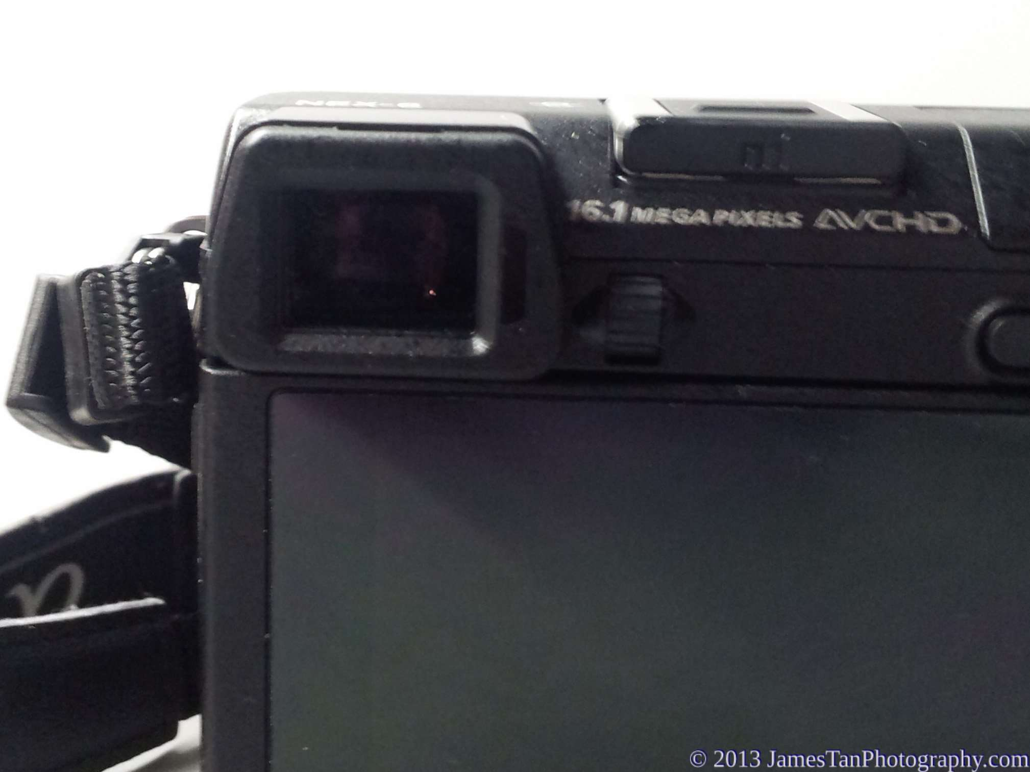 Sony Alpha NEX-6 EVF without rubber eye cup