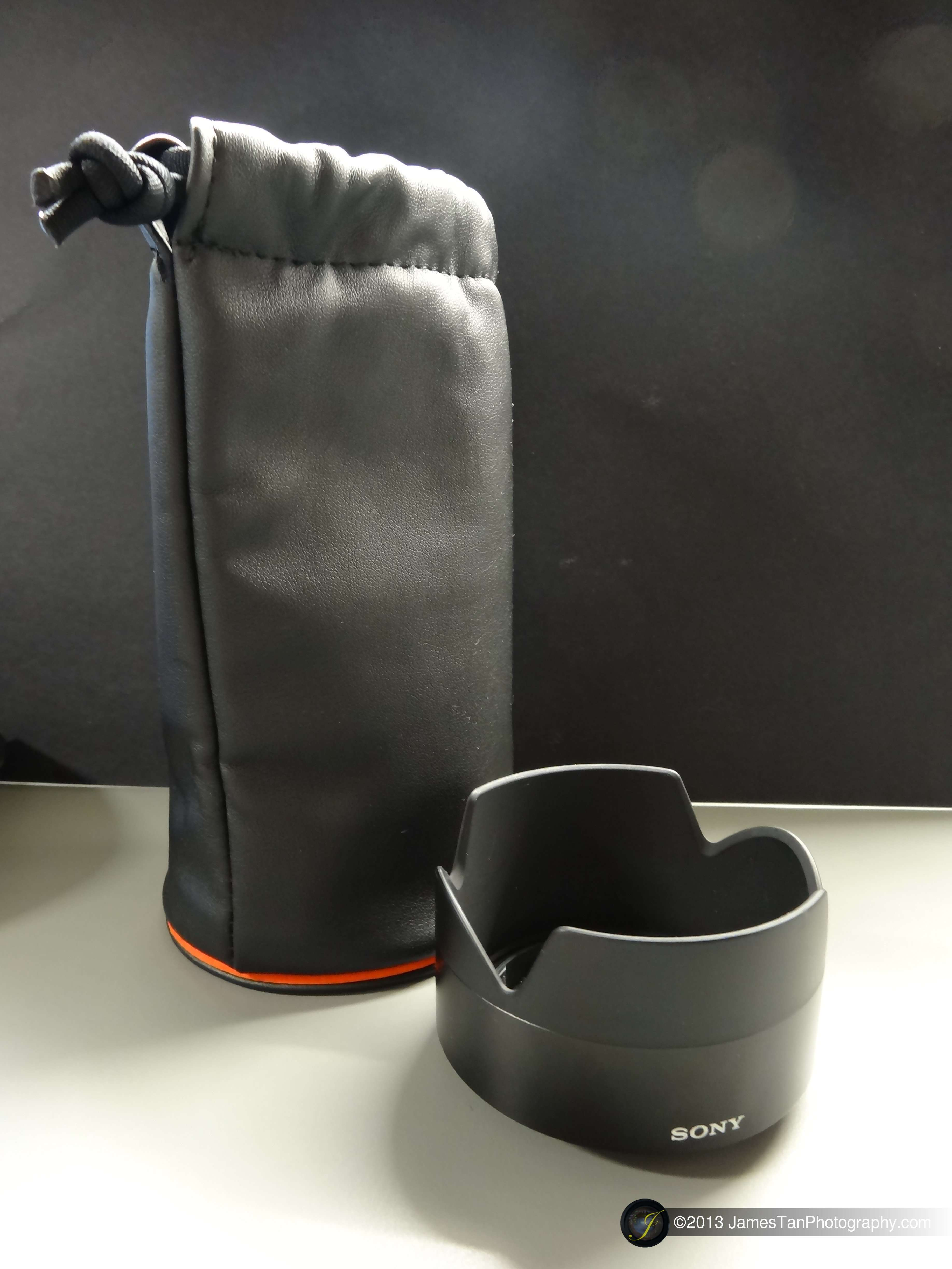 The Pleather Pouch and the Plastic Lens Hood