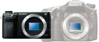 Mirrorless vs DSLR (Image retrieved from Sony Official Website: http://www.sony.com.sg/product/nex-6l)