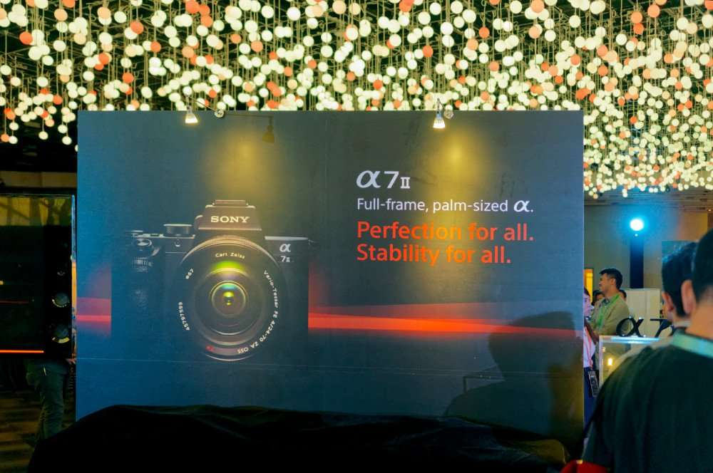 Sony A7 MK II Launch Event
