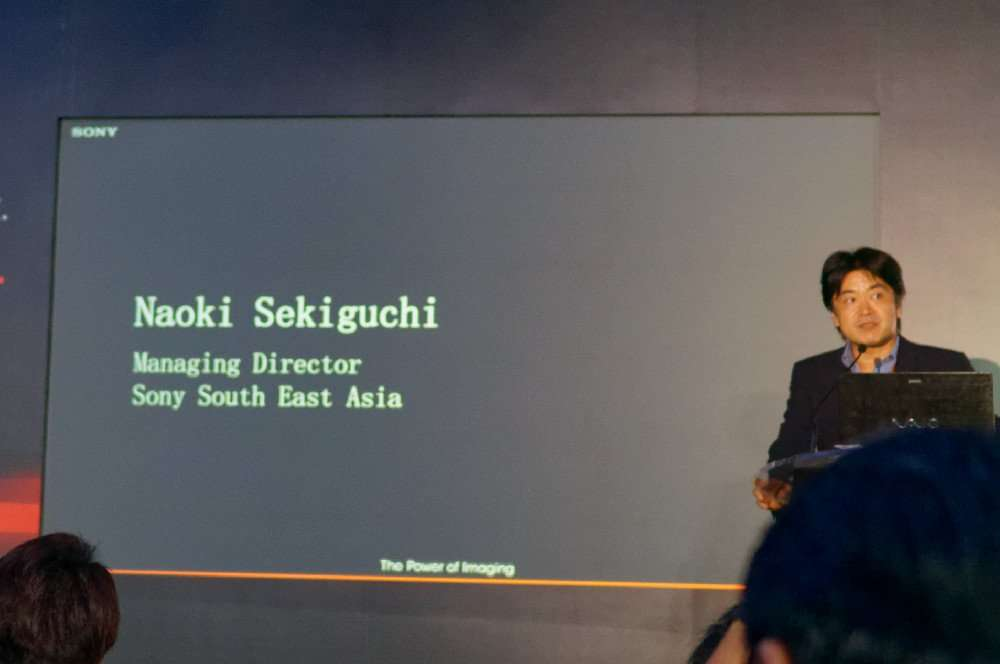 Sony South East Asia Managing Director - Naoki Sekiguchi