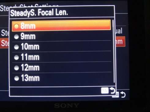 Manual 5-axis Image Stabilizer Settings