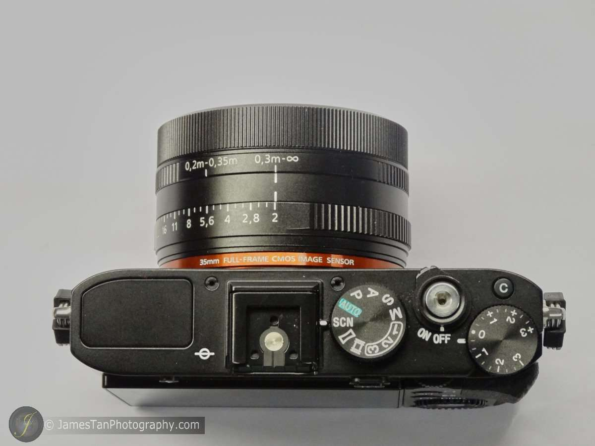 The Top View of Sony RX1R